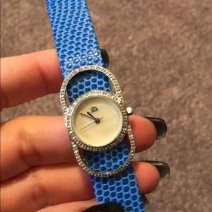Accessories - Joya blue Reptile Strap Watch